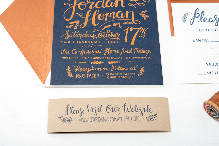 Charleston Wedding Invitations Pike Street Press