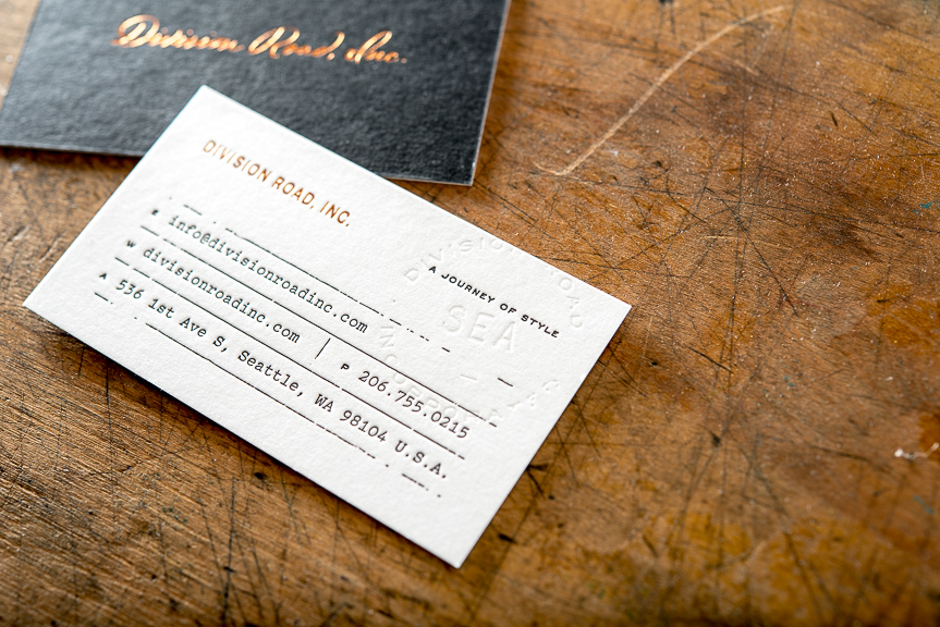 Copper Foil Business cards – Pike Street Press