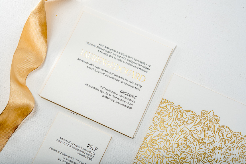 Letterpress & Gold Foil Wedding Invitations – Pike Street Press