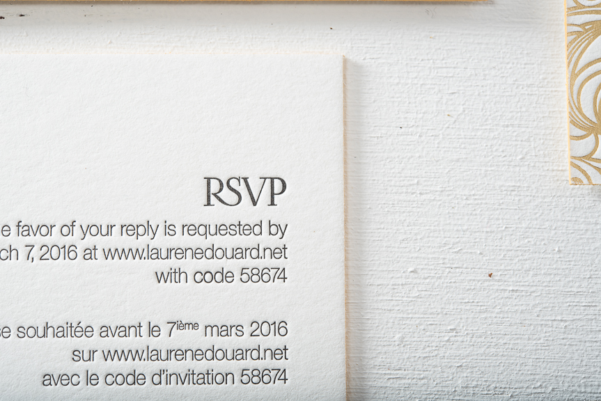 Letterpress gold foil wedding invitations pike street press project gold foil wedding invitations stopboris Image collections