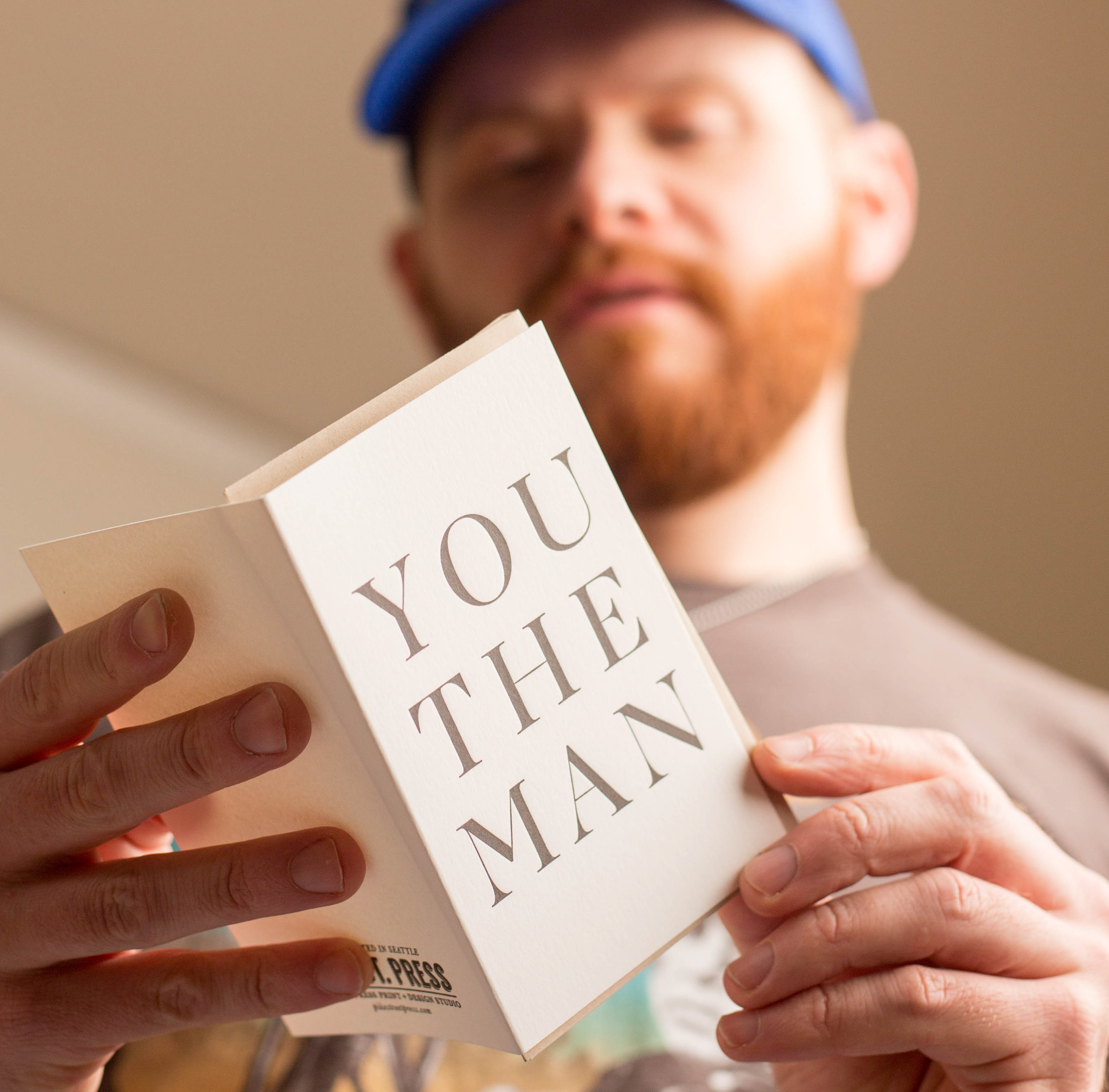 You the Man letterpress Greeting Card