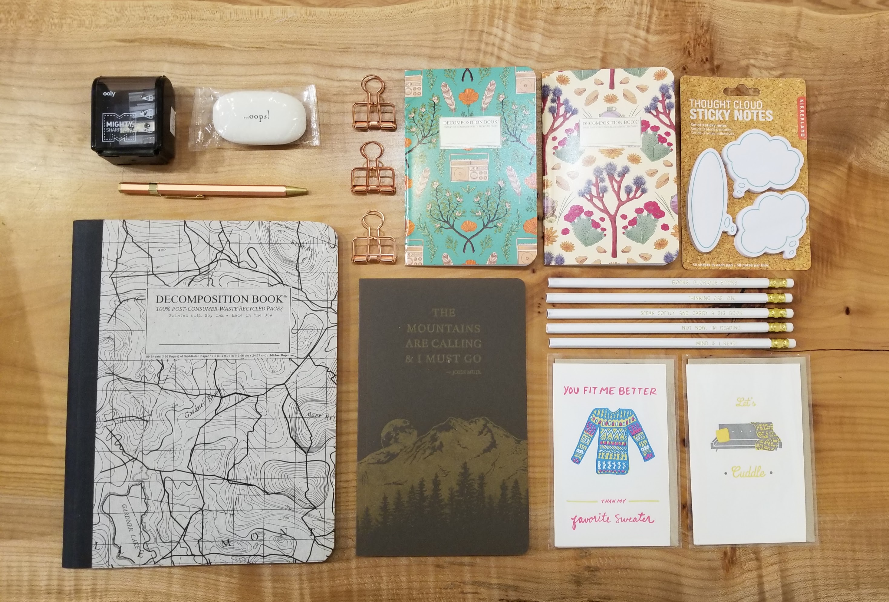 seattle stationery stores pike st press notebooks