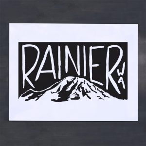 rainier washington screenprint poster