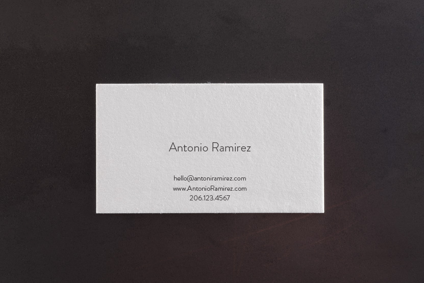middle man letterpress business card template pike street press