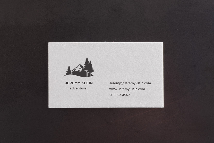 Mountaineer Letterpress Business Card Template – Pike Street Press