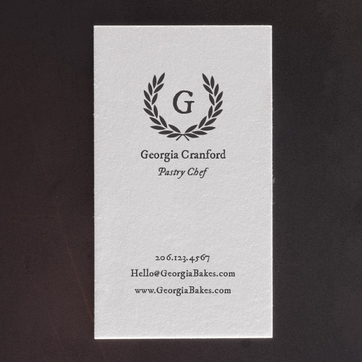 The wreath letterpress business card template pike street press the wreath letterpress business card template reheart Images