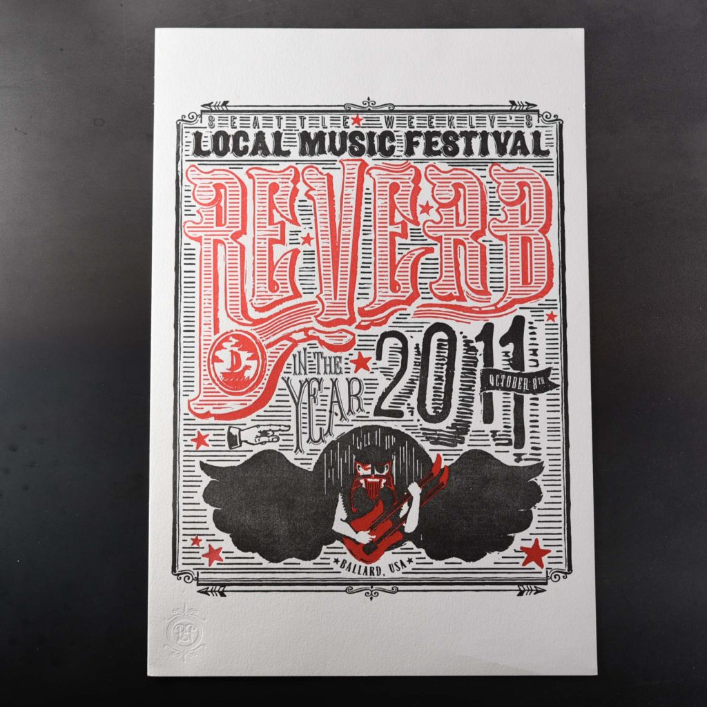 local music festival black and red old western poster