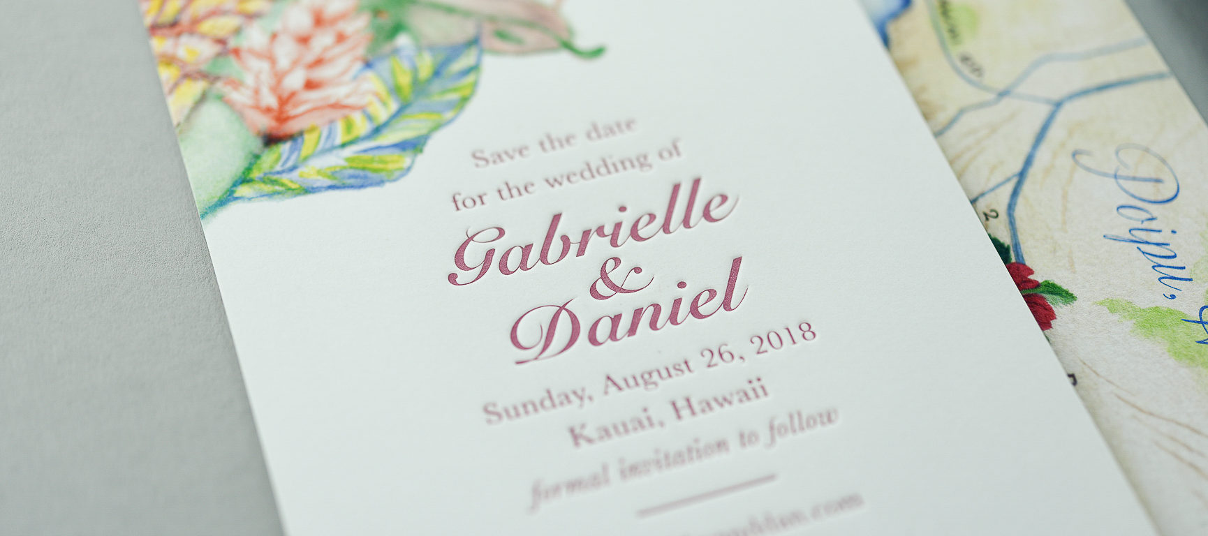 Kauai Hawaii Letterpress Wedding Invitations | Pike St  Press